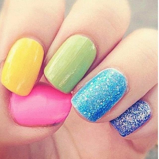 Easter Nails!Nails Art, Nails Design, Rings Fingers, Spring Nails, Rainbows, Beautiful, Colors Nails, Nails Ideas, Easter Nails