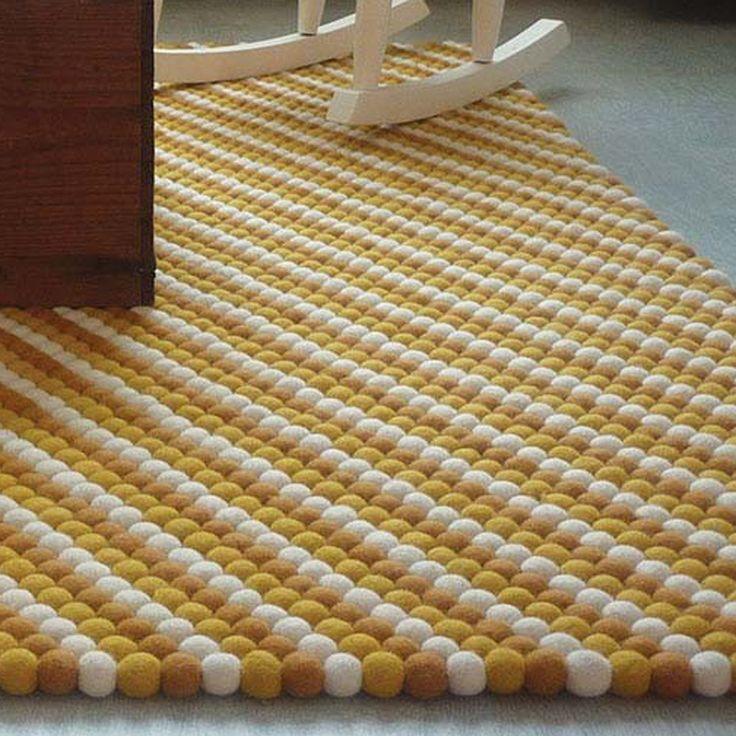 Ikea Rug Felt: 27 Best Kugletæppe / Felt Ball Rugs / Filzkugelteppich