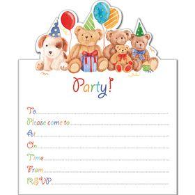 IV97 Soft Toys Invite (pack of 10). www.gailscards.com.au