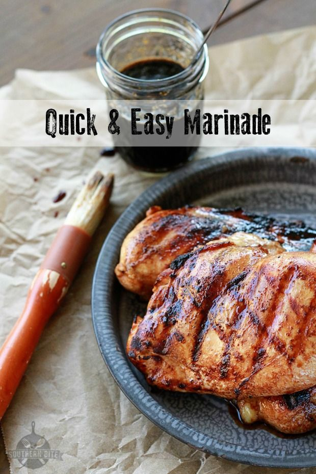 This quick and easy marinade is great for grilling chicken, pork, beef, veggies, and everything in between!