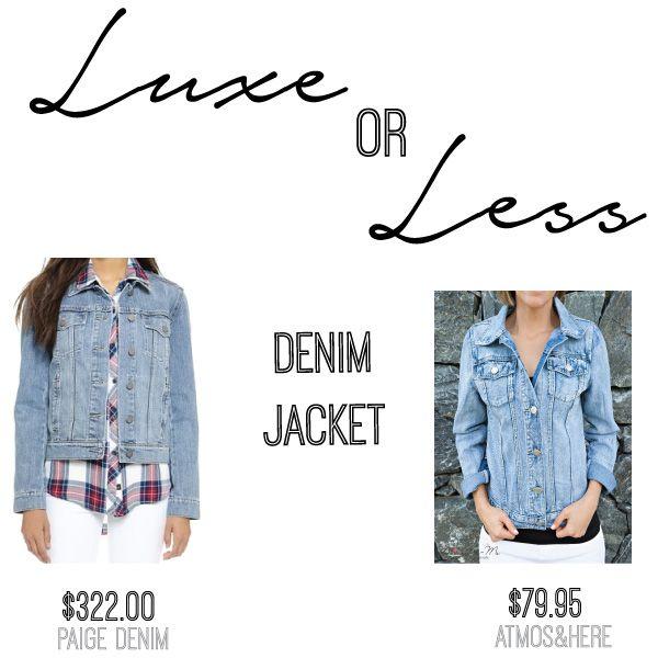 SHOP THESE: Paige Denim Heidi Jacket $322 via Shopbop  |  Boyfriend Denim Jacket Atmos & Here $79.95 via The Iconic