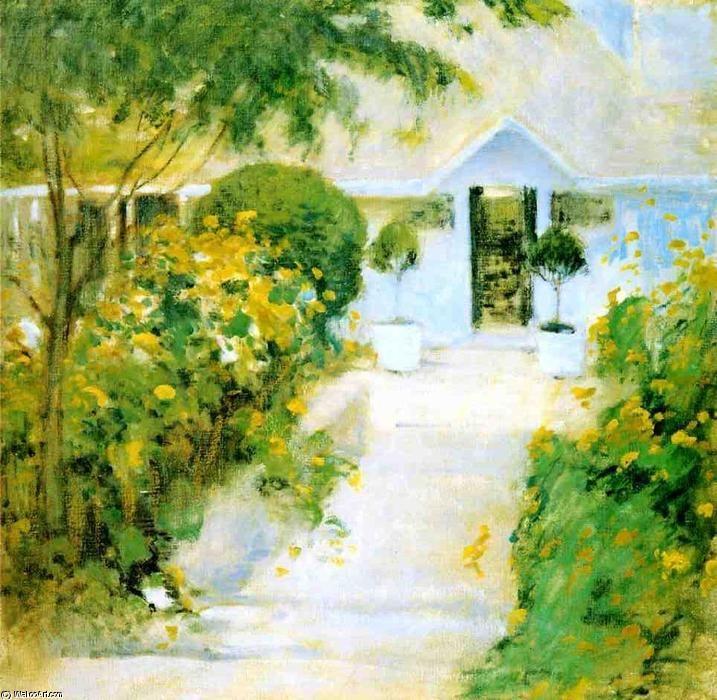 garden path paintings images | Garden Path, öl auf leinwand von John Henry Twachtman (1853-1902 ...