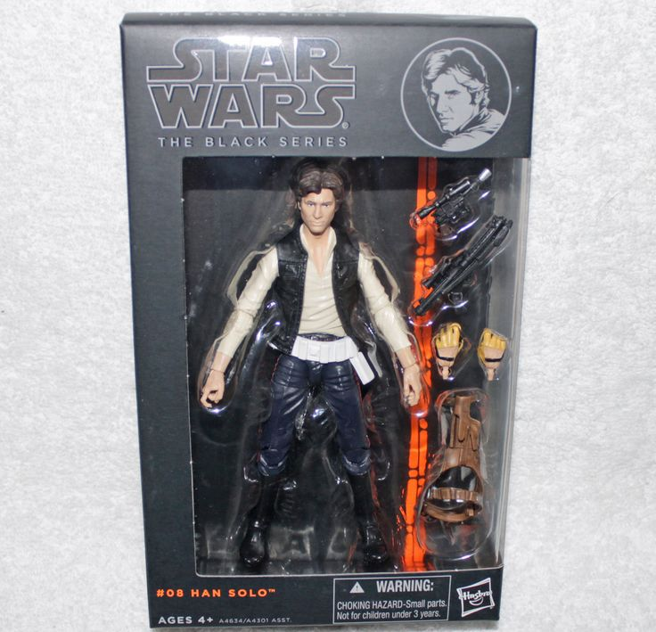 "Hasbro Star Wars Black Series 6-Inch Han Solo 6"" Action Figure ~ Ships FREE!!"
