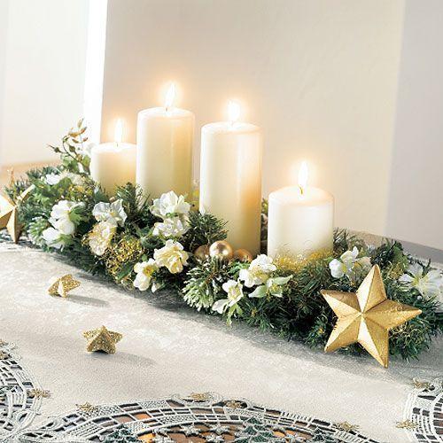 Las 25 mejores ideas sobre velas de navidad en pinterest - Adornos de mesa navidenos ...
