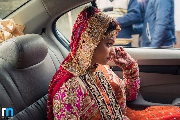 departure of the bride