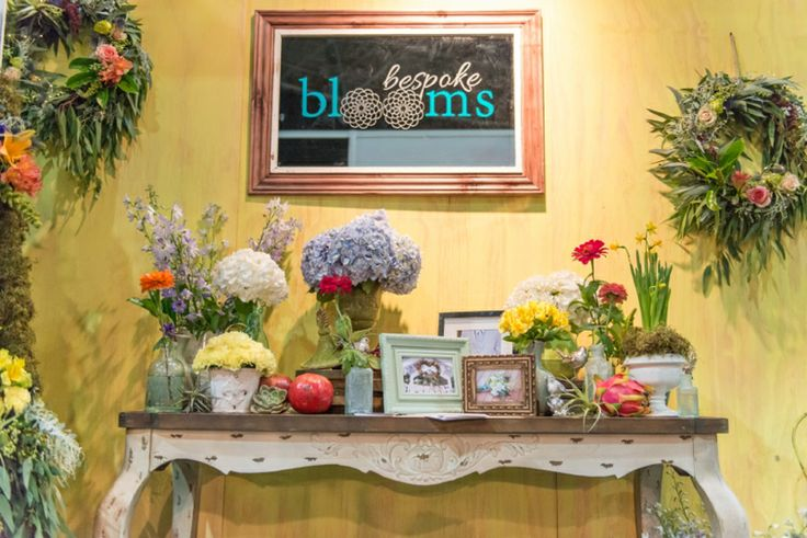 Bespoke Blooms Stand at the Wedding Expo April 2014