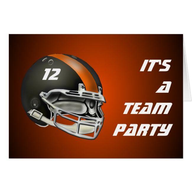 Black And Orange Football Helmet Zazzle Com Football Helmets Football Football Design