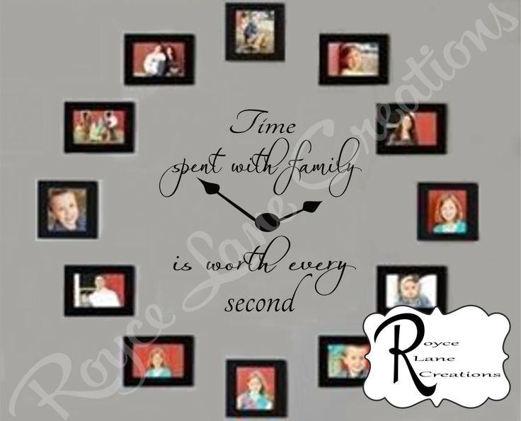 Time Spent with Family Decal Time Spent with by RoyceLaneCreations, $20.00