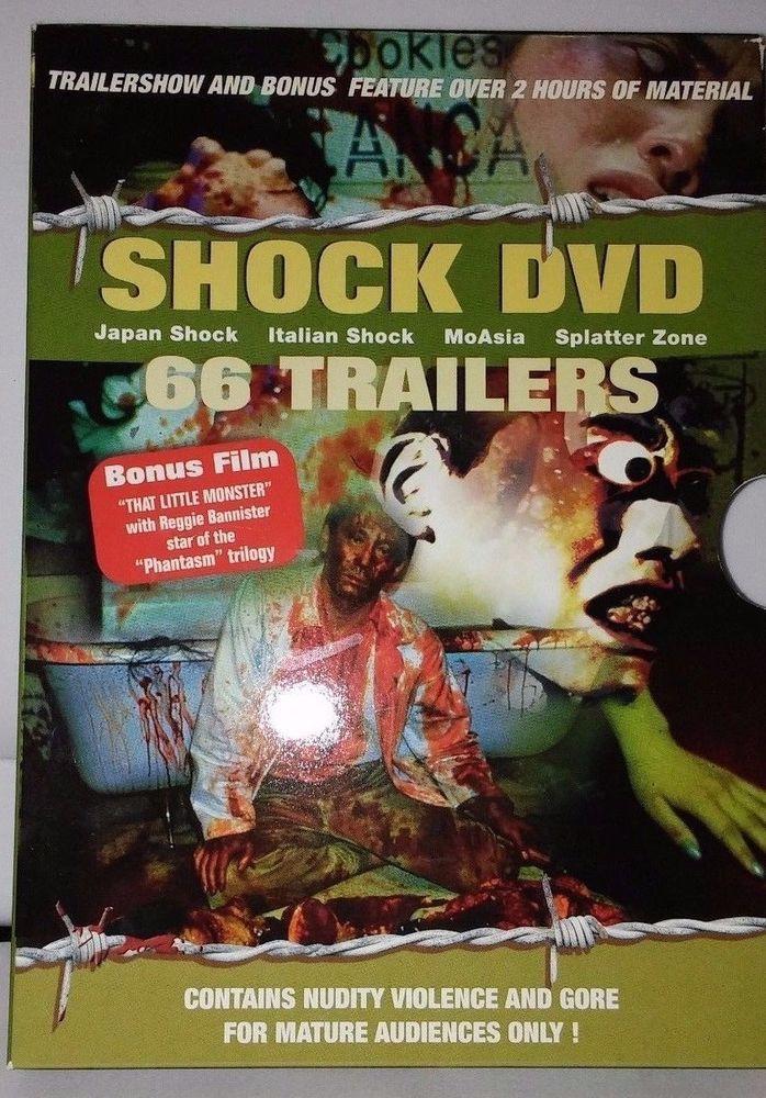 SHOCK DVD 66 TRAILERS + bonus film PAL R2 Reggie Bannister Phantasm Asian GORE