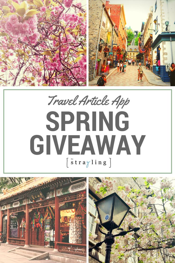 Spring giveaway for my fellow travellers!