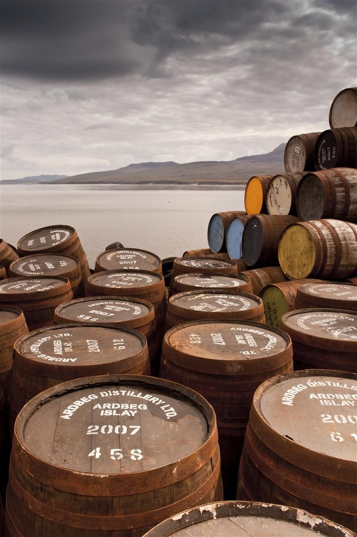 Bunnahabhain Distillery whisky barrels which are from the Ardbeg distillery by Scott Jessiman