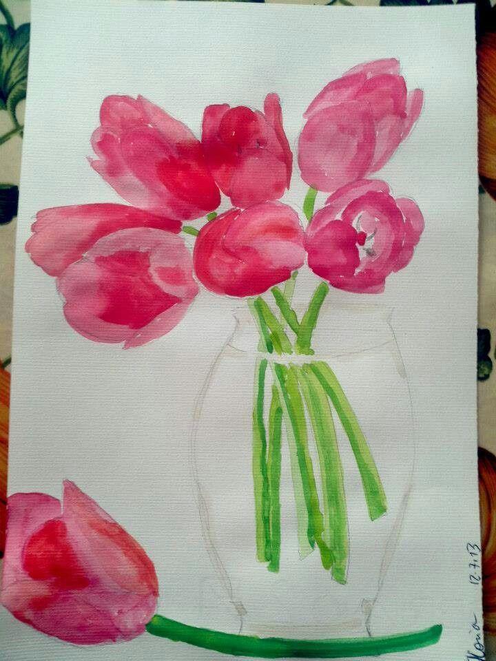 Tulipani acquerello