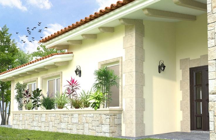 """Diseño arquitectónico para residencia dentro del fraccionamiento """"residencial cañadas""""."""