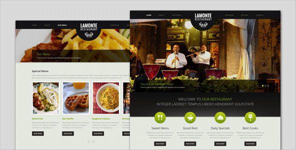 LaMonte - Modern Restaurant WordPress Theme