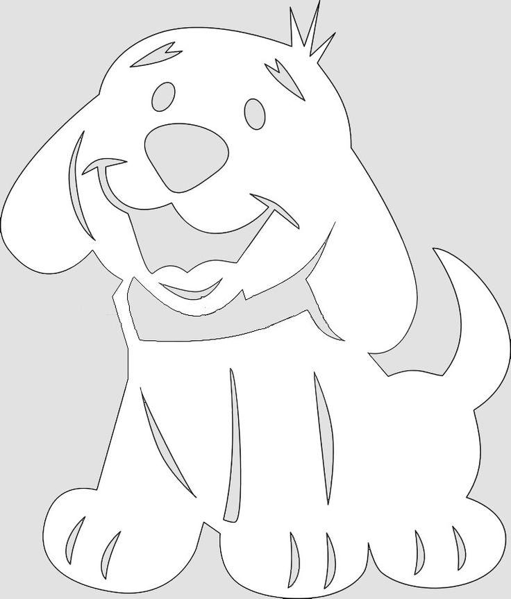 может быыыыыть, картинка собаки для вырезания из бумаги еще больше