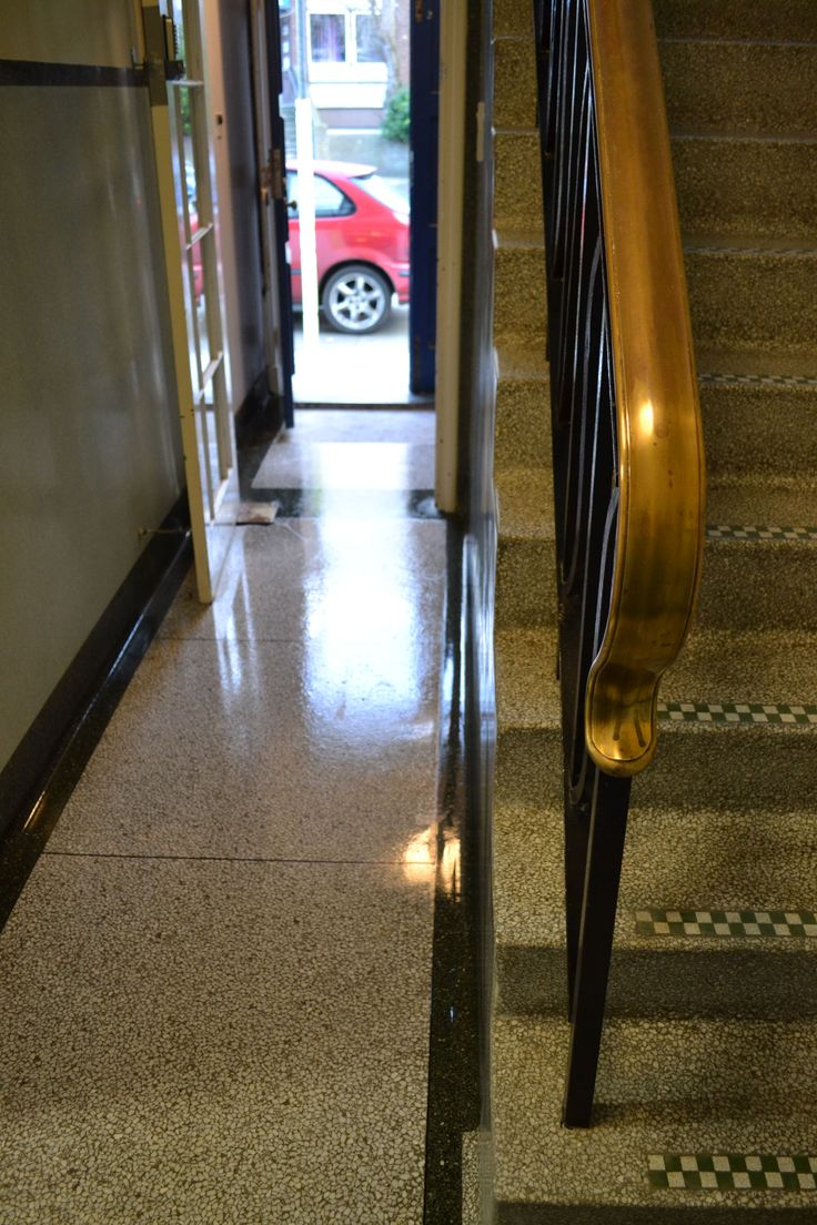 How to clean Terrazzo stairs