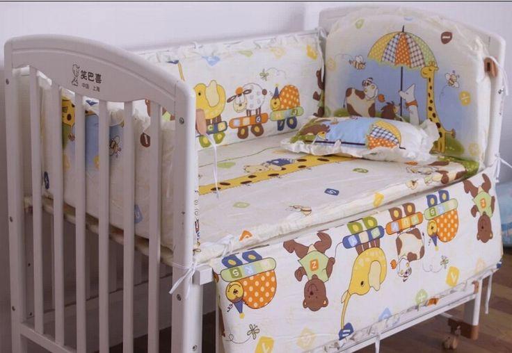 Barato 5 pcs define bebê bumpers define minnie mickey 100% algodão dos desenhos animados do bebê crib set inverno pára choques adapte 100 * 60 kits de berço, Compro Qualidade Roupas de cama diretamente de fornecedores da China:                     &nbs