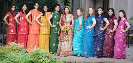 Bright Indian Bridesmaid Dresses!