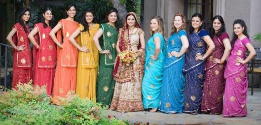 Bright Indian Bridesmaid Dresses Kerala Wedding Ideas