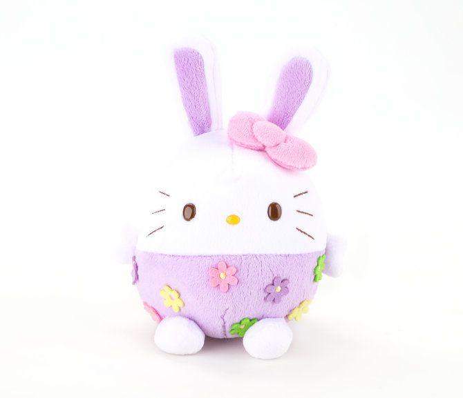"Hello Kitty Egg 6"" Plush: Purple Easter Bunny"