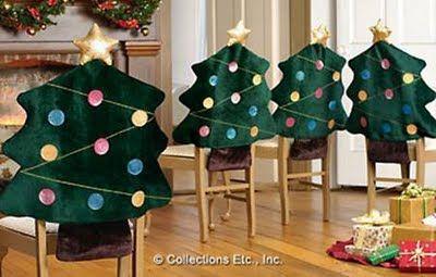 Mulher Artesanal: Capas de cadeiras para o Natal