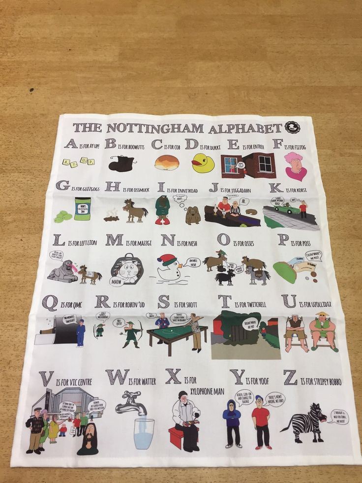 Dukki Nottingham Alphabet Tea Towel