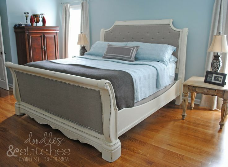 how to upholster a sleigh bed headboard 3