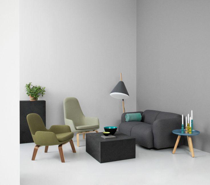 Křeslo Era Lounge od Normann Copenhagen, Walnut Fame, nízké | DesignVille