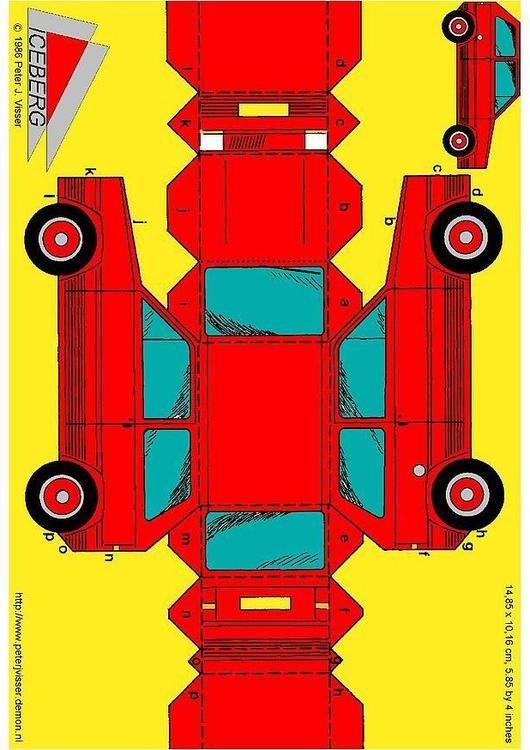 Basteln Auto. Basteln für Kinder - 3414                              …