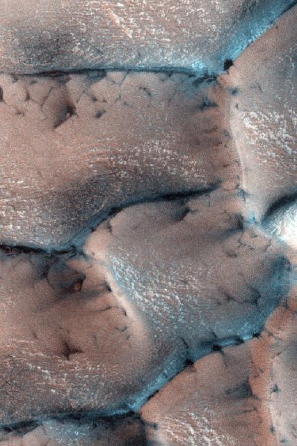Defrosting Dunes on Mars.