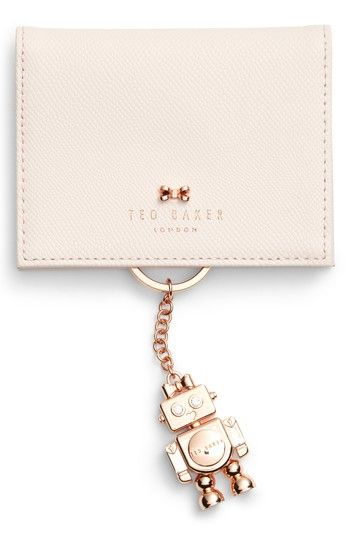 Free shipping and returns on Ted Baker London Leather Card Case with Robot Key Chain at Nordstrom.com. There's nothing artificial about the intelligence of snapping up this delightful card case paired with a gilded robot programmed to protect your keys.