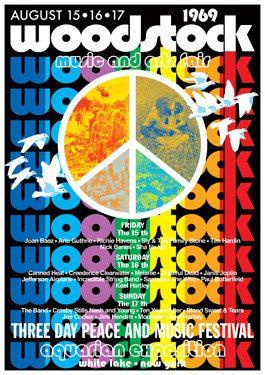 WOODSTOCK Pop Festival - White Lake NY  August 1969  - concert live show poster artistic - manifesto artistico concerto. €10,00, via Etsy.