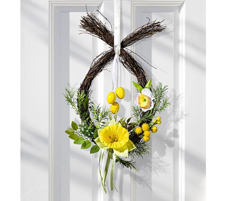 Květinový věnec Narsicy | vyprodej-slevy.cz #vyprodejslevy #vyprodejslecycz #vyprodejslevy_cz #home #homedecor #easter