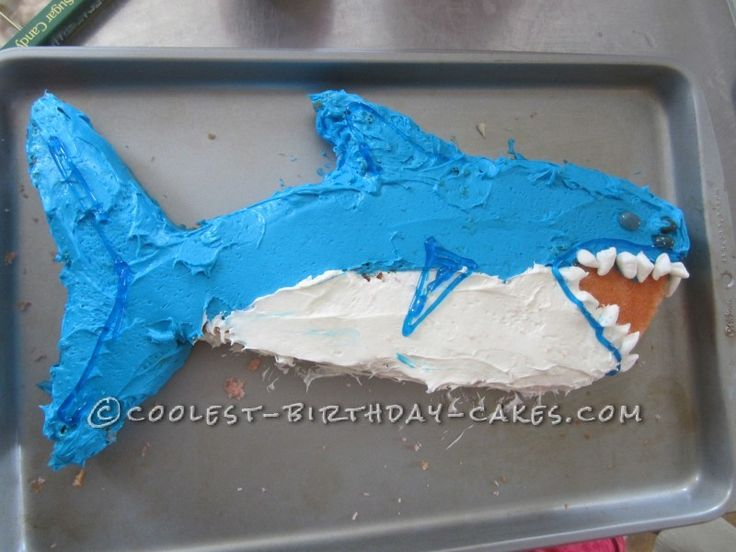 Coolest Shark Birthday Cake ...This website is the Pinterest of birthday cakes