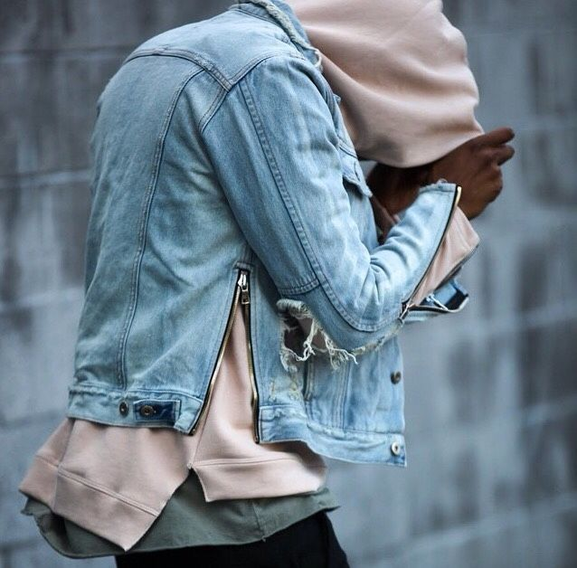 Over layers. Ripped