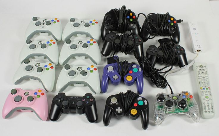 16 Xbox 360 Xbox Gamecube Ps2 Ps3 Wii Game Console Controllers -Untested #Microsoft
