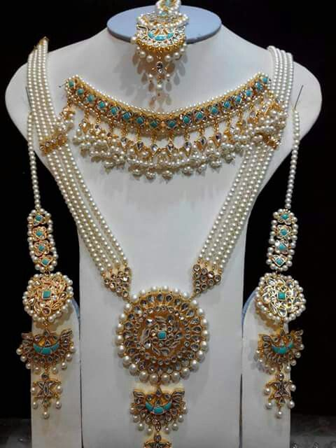 Traditional Indian pearl jewellery