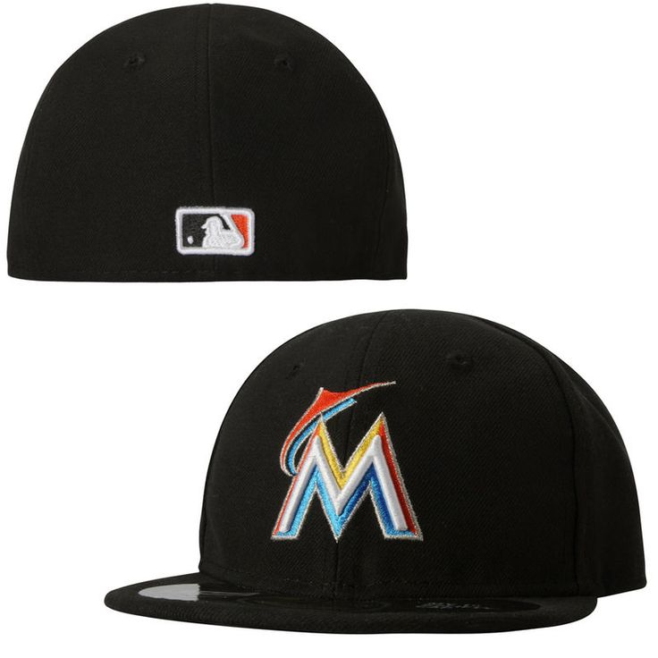 reliable quality fashion style details for Miami Marlins New Era Infant My 1st 59FIFTY Fitted Hat - Black ...