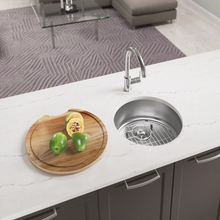 465 Circular Stainless Steel Kitchen Bar Sink