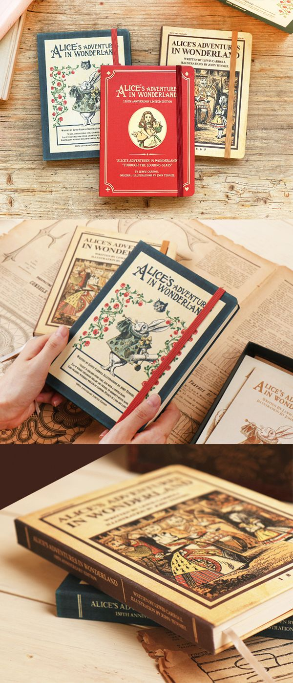 Relive the original Alice in Wonderland with this super charming and vintage style planner!
