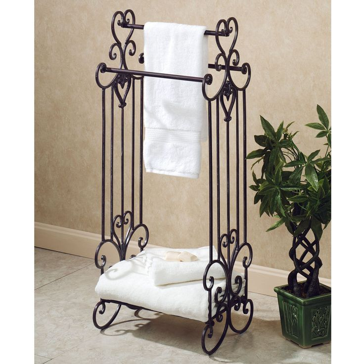 Best 25 towel racks for bathroom ideas on pinterest for Bathroom towel racks
