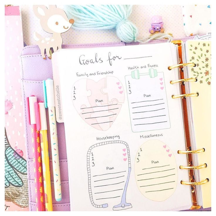 Just released this cute Goal List printable! You can write your top 3 #goals and your action plans for each category! Shop link in bio Ps. If you live in Australia and bought @marieanndesignsau 's Feb subscription box then you have a printed version of this! You can now purchase this printable and print them as much as you want