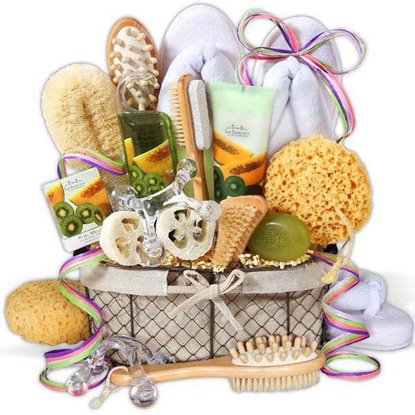 Unique spa basket ideas on pinterest gift