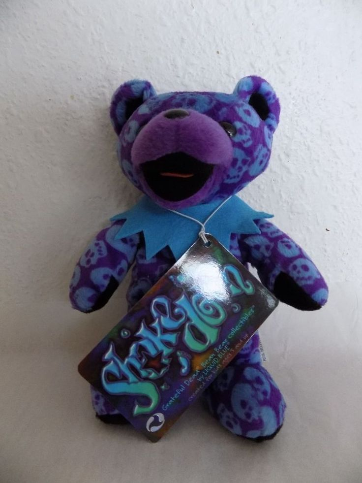 Grateful Dead Collectible Bean Bear Shake Down Liquid Blue