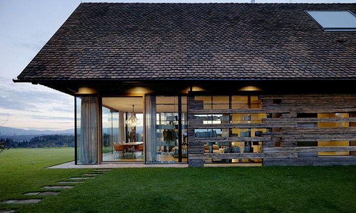 Štýrské venkovské domy přestavěli na moderní sídlo
