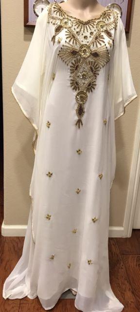 DUBAI VERY FANCY KAFTANS Abaya Jalabiya Ladies Maxi Dress Wedding  gown | eBay