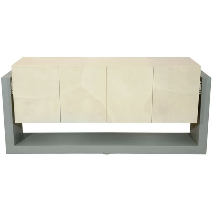 1stdibs | Faux Parchment Floating Credenza