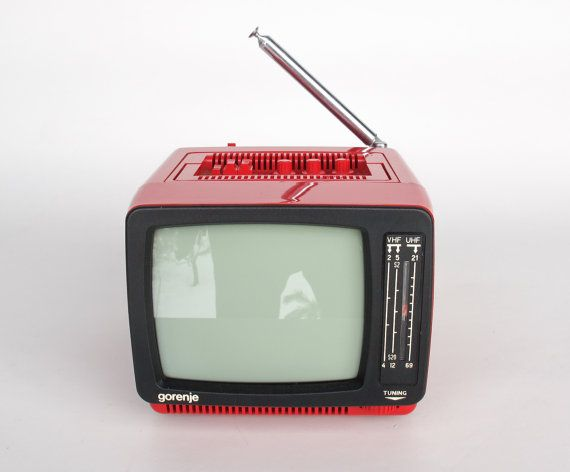Vintage Portable TV Set From Yugoslavia  by TheCuriousCaseShop, €60.00