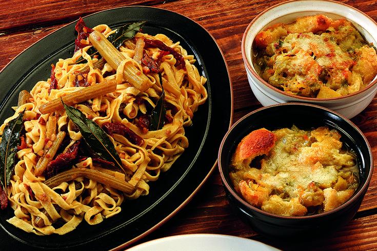 Zuppa gratinata di verza e verdure
