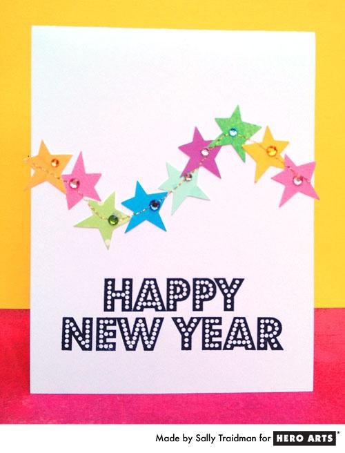Card Making Ideas New Year Part - 42: New Yearu0027s Card By Sally Traidman #HeroArts